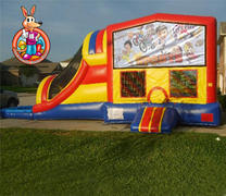 Sports Module 5 in 1 Waterslide Bouncehouse Combo